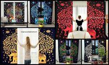 Indian Elephant Tree of Life Twin Size Door Window Curtain Hanging Ethnic Decor