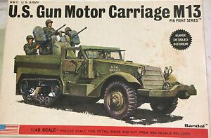 Bandai -U.S. GUN MOTOR CARRIAGE M13 1/48 #8283 NIOB