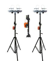 (2) DJ Pro Lighting 10 Foot Crank Light Stand & (2) Square Truss T-Bar Adapter