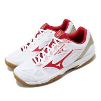 Mizuno Sky Blaster White Red Gold Mens Womens Badminton Shoes 71GA1945-60