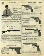 1929 PAPER AD Fox Toy Gun Double Barrel Savage Bakelite Ball Shooter H&R Trapper