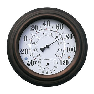 Thermometer Indoor Outdoor Patio Large Wall Thermometer and