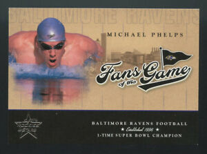 ROOKIE CARD 2004 DONRUSS MICHAEL PHELPS RC OLYMPICS GOAT USA GOLD FANS OF GAME