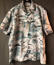Milano Bay Short Sleeve Hawaiian Shirt Men's Size XL Woven Island Sailing Aloha