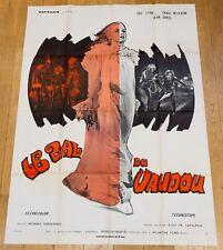 LE BAL DU VAUDOU Affiche cinéma 120x160 ELOY DE LA IGLESIA, SUE LYON -  HORREUR