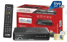 Decoder TivùSat I-Can 4000s HD compatibile SCR Unicable e tessera Gold Tivusat