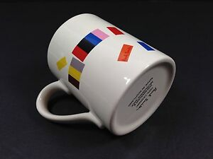 PAUL SMITH Ceramic Mug Cup Color Blocks Made In Scotland Rare