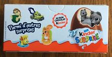 ORIGINAL PACKED BOX WITH 3 KINDER FERRERO SURPRISE EGGS FRANCE VERSION