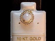 Opal Anhänger - 0,50 ct. - 6 mm - Milgrain Fassung - 10 Kt. Gold - 417 - Pendant