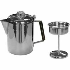 Stansport Stainless Steel Percolator Coffee Pot - 9 Cup