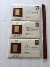 Gold Foil Replica Stamps ~ Mary Cassatt paintings ~ 4 ~ First day Aug 7, 2003