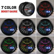 New 52mm 7 Color Digital & Pointer LED Turbo Boost Gauge Meter For 12V Car SUV
