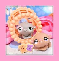❤️Authentic Littlest Pet Shop LPS #624 #625 Cuddliest Hamster Twin Wheel Lot❤️