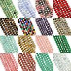 """Fil 16"""" de PERLES RONDES cristal PIERRE PRÉCIEUSE 6mm (+ de 65 perles)"""