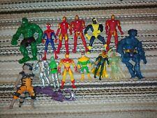 14 marvel figures vintage modern spiderman hulk rocket beast iron man vision