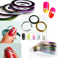 8Rolls Mixed Colors Striping Tape Line DIY Nail Art Tips Decoration Sticker beau