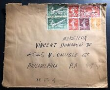 1924 Paris France Olympics Stamp Cover To Philadelphia Pa USA Sc#198