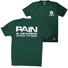 FB Gym Bodybuilding Tee - Pain Is Weakness - Novelty Dry Fit Performance T-Shirt
