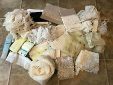 HUGE LOT Antique Lace, Trim, Eyelet, Netting, Victorian Cotton YARDS AND YARDS