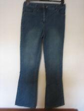 RR54) Damen rockmana Bootcut Leg Blau Jeans Reißverschluss Größe 10 Bein 32