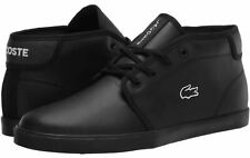 Lacoste Ampthill 120 3 Black Black Leather Mens Trainers