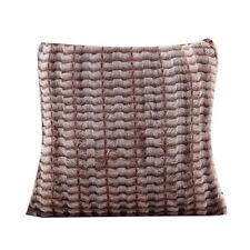 Faux Fur Wool Plush Sofa Waist Pillowcase Cushion Cover Fluffy Pillow Case AA