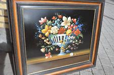 """Original Paint Carl Prévot """"Fleurs à la Coupe"""" 1994 Brussels - Mika +32475277772"""