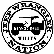 Jeep Nation,Since 1941,Willys,Jeep life,50 cal,Jeeper,Jeep,Off Road,Vinyl Decal,