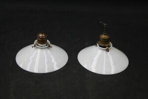 Old Hanging Lamp Pendant Light Type Decor Bauhaus Design Opal Glass Before 1945