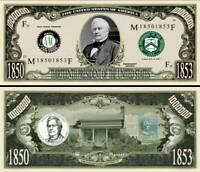27th President William H Taft Million Dollar Funny Money Novelty Note SLEEVE