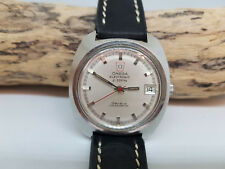 De COLECCIÓN OMEGA electrónica F300Hz Geneve Cronómetro Dial de plata Fecha reloj de hombre