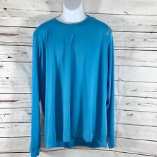 Reebok Crossfit Mens Long Sleeve Shirt Quick Dry Blue 2XL New