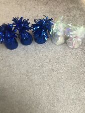 5 Foil Balloon Weights Helium Blue And Clear Colour Weddings Birthdays