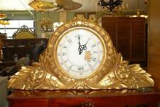 """Large Railway Style Clock in Fiberglass Construction, 75"""" Wide Gold"""