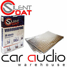 Silent Coat 40 Sheets 2mm Bulk Pack Boot Sound Proofing Deadening Material Mat