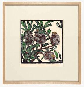 Margaret Preston Banksia Australian Wildflower Painting Flower Art Deco Drawing