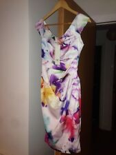 Ladies Lipsy VIP BNWT Size 6 White/multi Dress