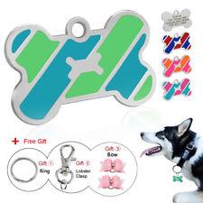 Placa identificativa pata collar perro Personalizado Mascota Perro Etiquetas