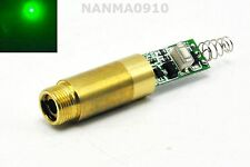 Industrial Brass APC 532nm 30mW Green Ray Laser Dot Module 3VDC w/ Driver Out