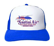Santini Air Snapback Hat - Retro Airwolf 80s TV Trucker Cap