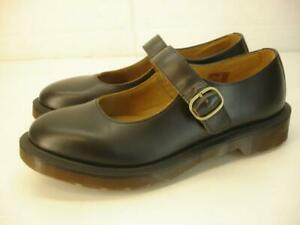 Womens UK 5 US 7 Dr. Martens Indica Black Vintage Leather Mary Jane Shoes Buckle