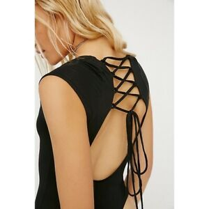 New Free People About The Back Bodysuit, Black, Various Sizes, RRP $38