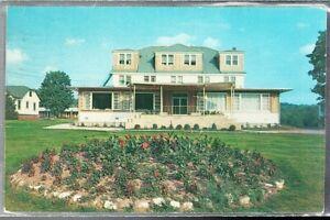 VINTAGE 1960 SHAGRIN'S HOTEL SWAN LAKE NEW YORK POSTCARD