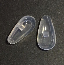 2x14mm Soft Silicone Air Active Tear Shape Screw In Glasses Sunglasses Nose Pads