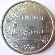 POLLYNESIE FRANCAISE 5 FRANCS 1977 .ALUMINIUM .3,75 GR 31  .MM .BAZOR