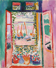 The Open Window Collioure 1905 Henri Matisse Sailboat Print Poster 20x24