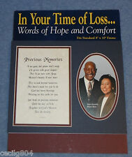 """IN YOUR TIME OF LOSS PRECIOUS MEMORIES"""" WORDS HOPE COMFORT SYMPATHY FRAME MAT"""