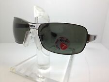 AUTHENTIC RAYBAN SUNGLASSES RB3379 004/58 64MM RB 3379 POLARIZED LENS ITALY