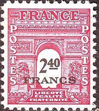 FRANCE TIMBRE NEUF N° 710 *  ARC DE TRIOMPHE