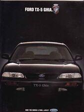 1992 FORD TX-5 GHIA Australian Prestige  Brochure - Like Telstar & Mazda 626